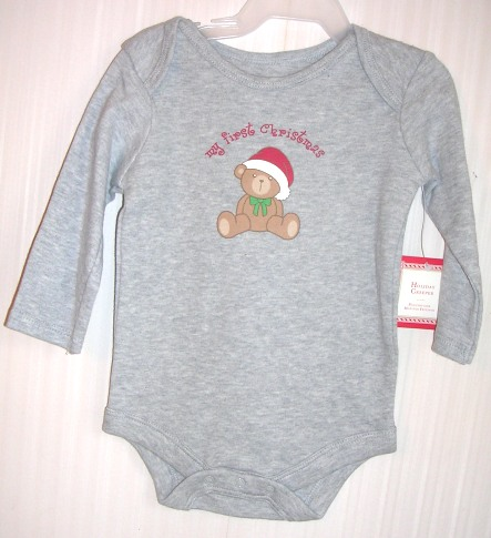 Holiday Creeper Snaps Long Sleeve My First Christmas 0-3 Months