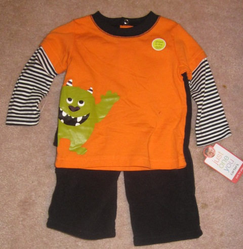 Just One You by Carter's 2 piece outfit newborn glows in dark