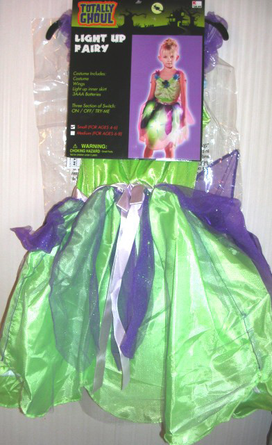 Light Up Fairy Totally Ghoul Small Ages 4-6