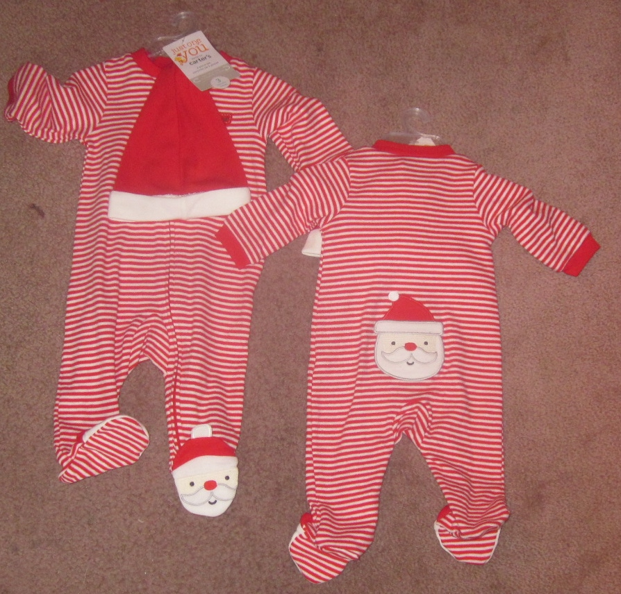 Just One You One Piece with Santa hat 3 months