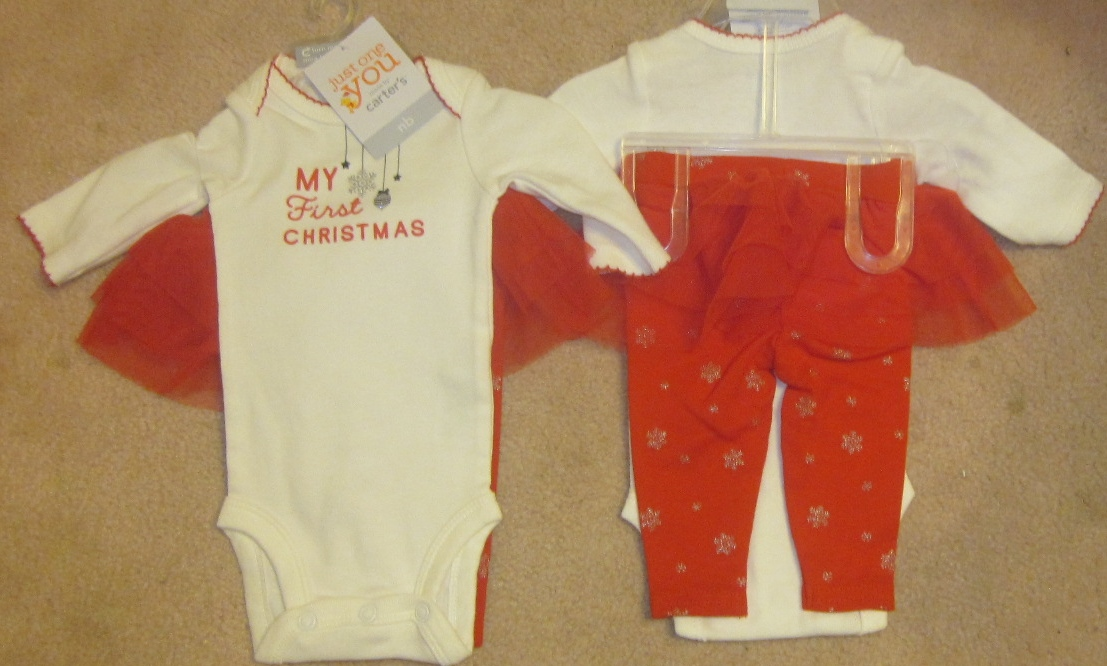 Just One You My First Christmas Outfit with tutu 3 months