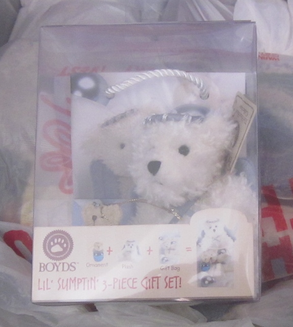 Boyds Bears Lil Sumptin 3 piece gift set Angel - Click Image to Close