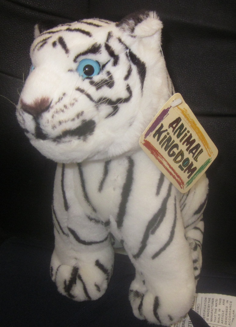 Stuffed White Tiger Plush by Animal Kingdom