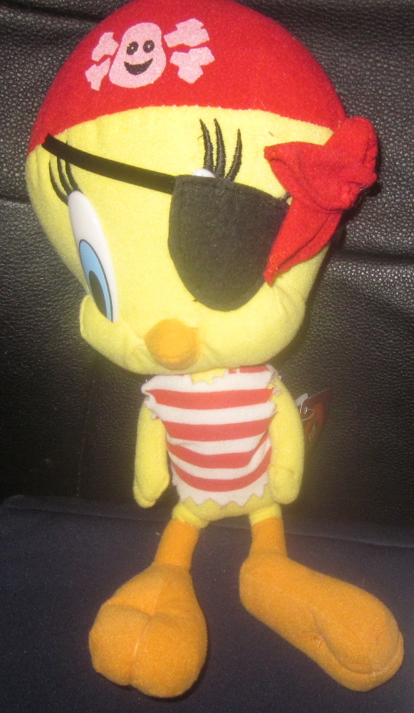 Pirate Tweety Bird Looney Tunes Plush