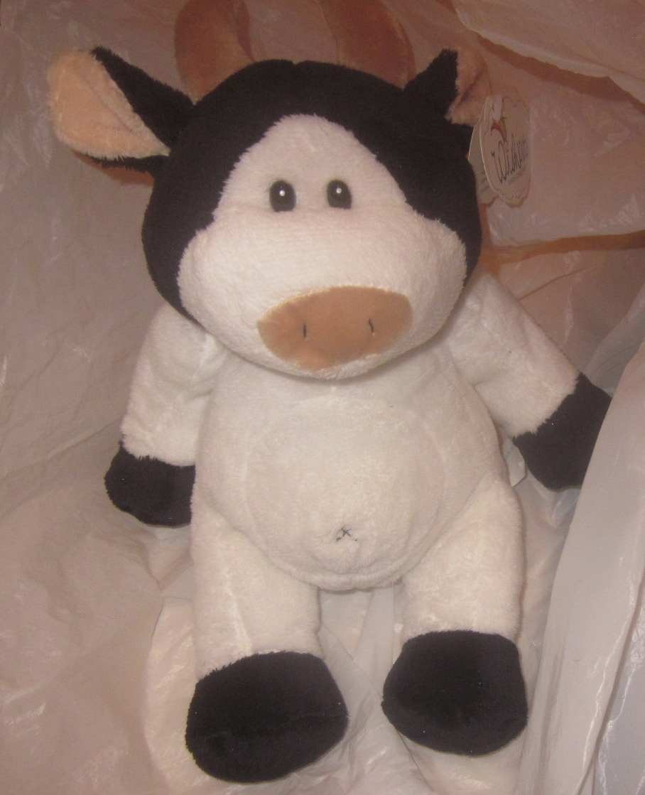 Wishpets Stuffed Plush Cow 92024