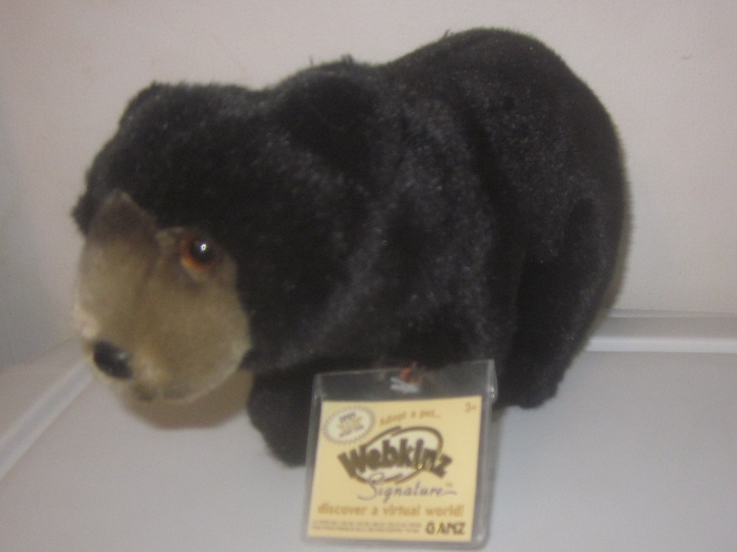 Webkinz Signature Black Bear Sealed Code