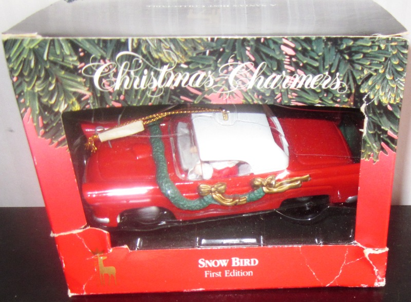 Christmas Charmers Snow Bird First Edition Red Ford Thunderbird