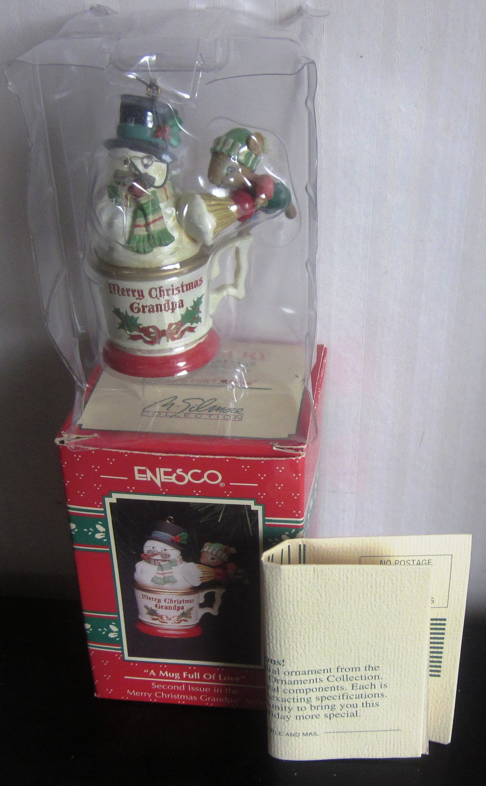 Enesco A Mug Full Of Love Merry Christmas Grandpa Mug Ornament