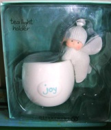 Dept 56 Angel Gifts Tea Light Holder Joy