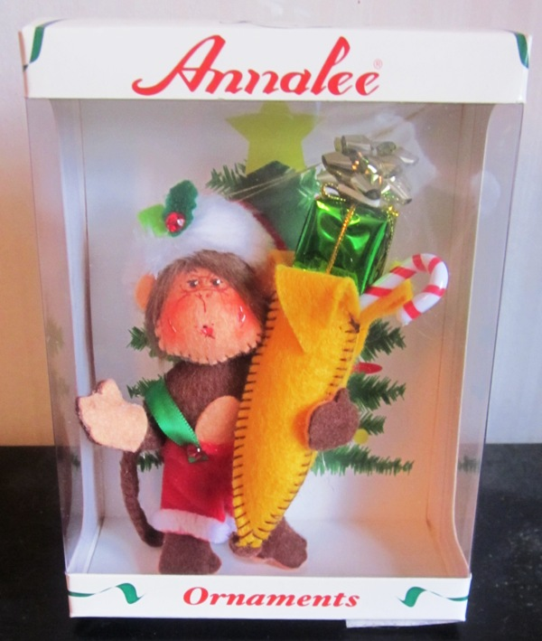 "Annalee 4"" Merry Chrstmas Monkey Ornament 701708"