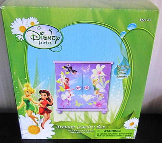 Disney Fairies Armoire Jewelry Box Pink
