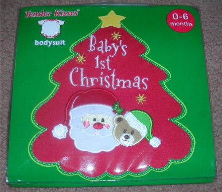 Onepiece Bodysuit Creeper Baby's First Christmas 0-6 Months