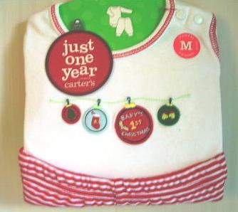 Baby's First Christmas Onepiece Creeper Set Carter's 0- 3 Months