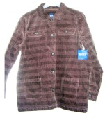 Womens Brown Corduroy Barn Coat Basic Editions Large