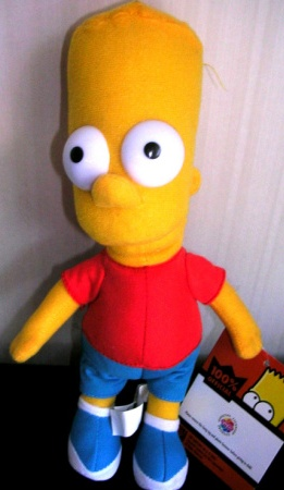 The Simpsons Bart Simpson Plush Stuffed