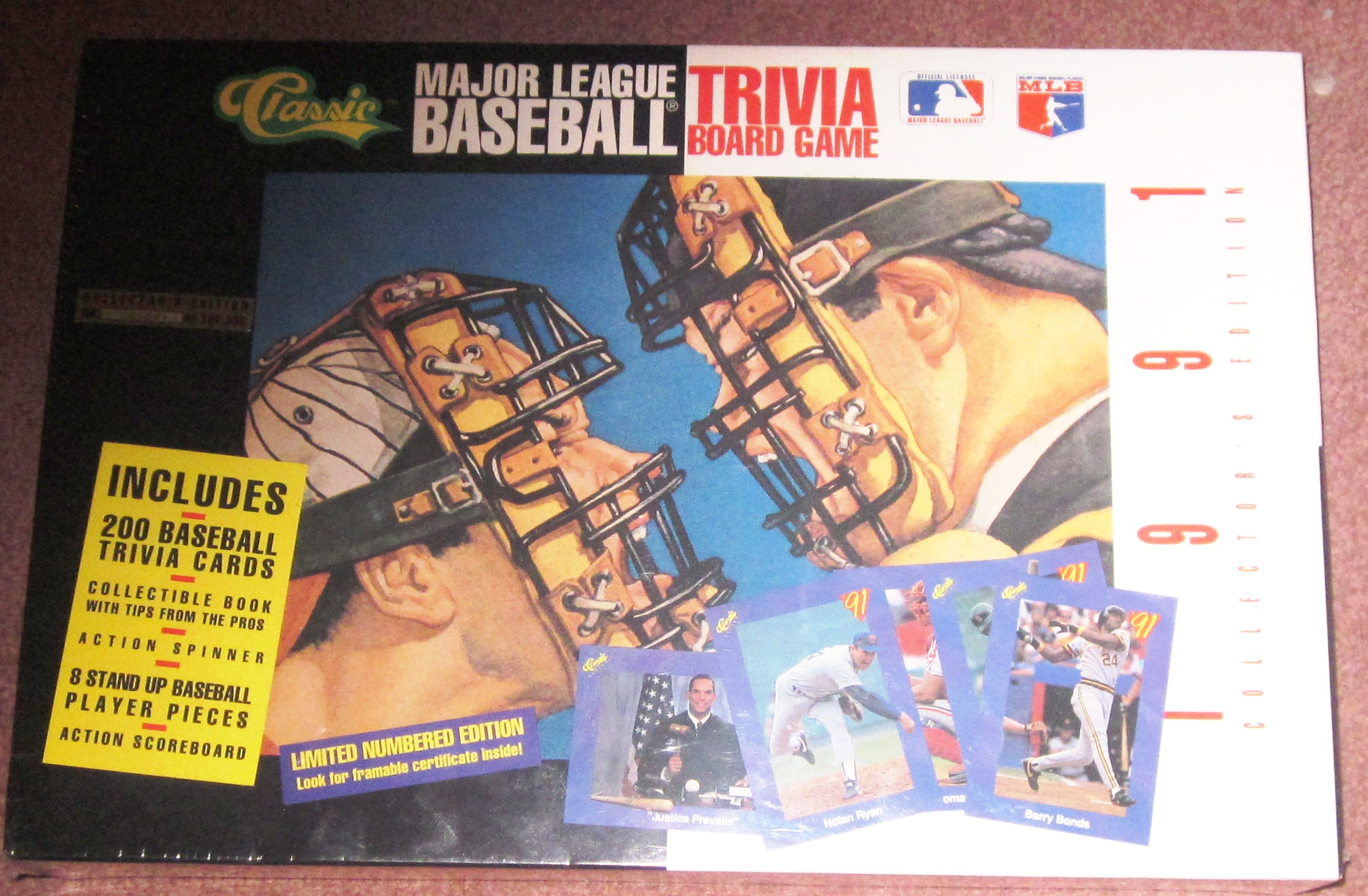 Major League Baseball Trivia Board Game 1991 Collector Edition