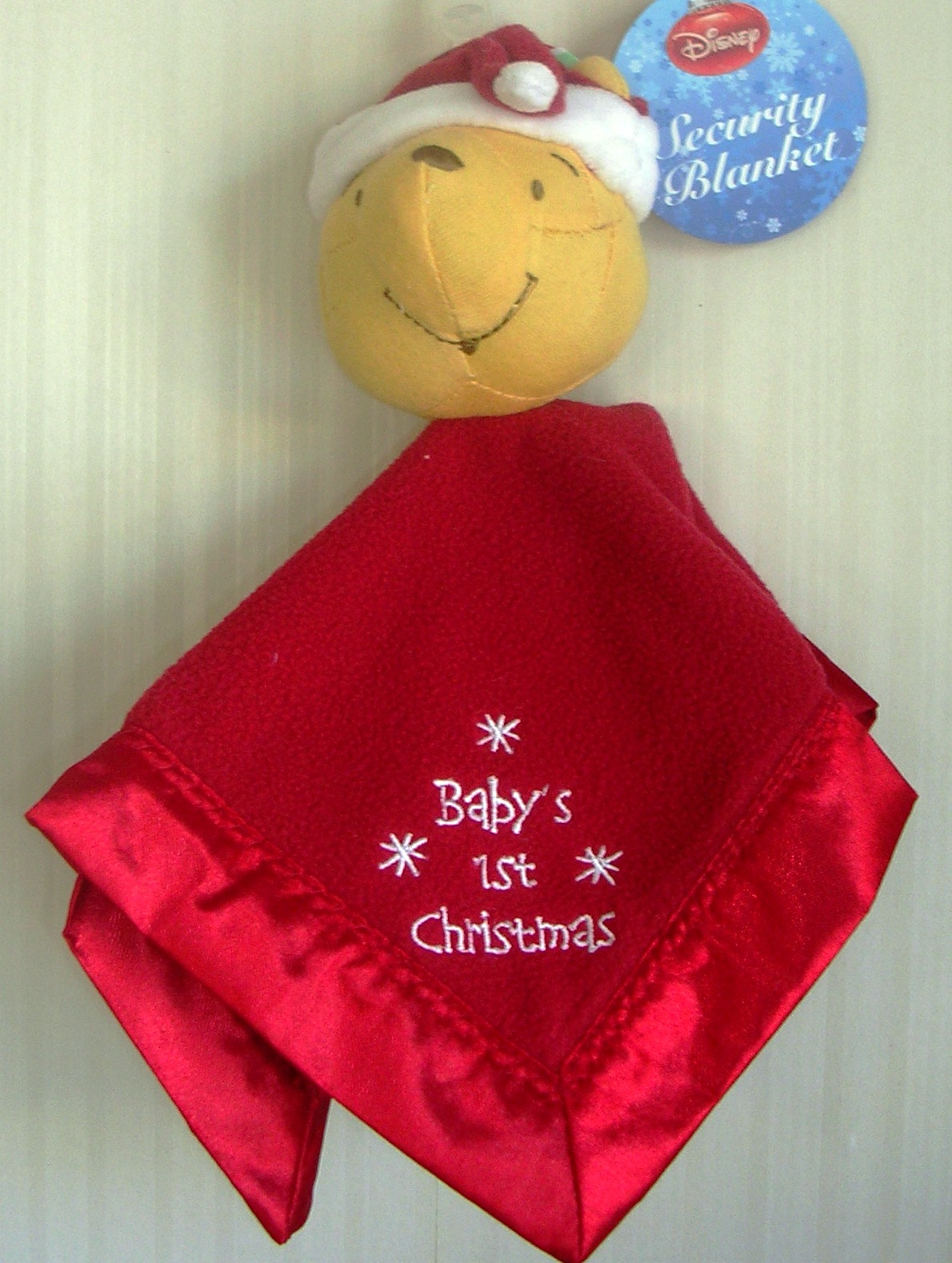 Winnie The Pooh Security Blanket Baby's First Christmas