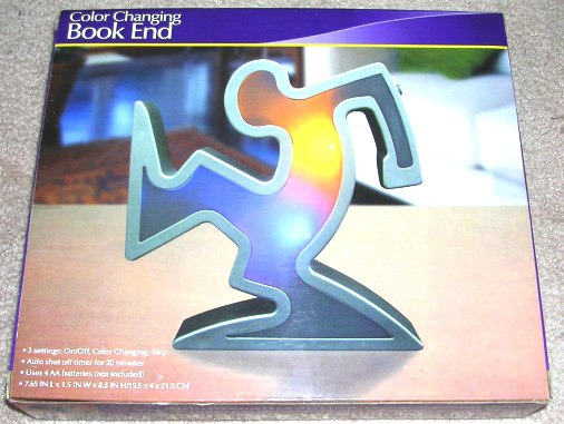 Decorative Color Changing Bookend Person