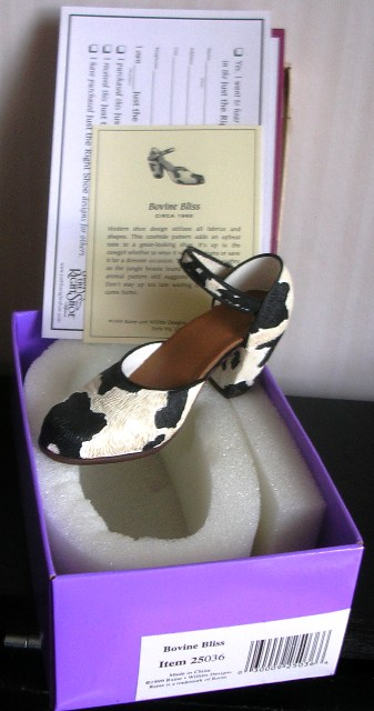 Just The Right Shoe by Raine Bovine Bliss #25036