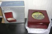 Jewelry Box Photo Frame Lid Cherry Finish