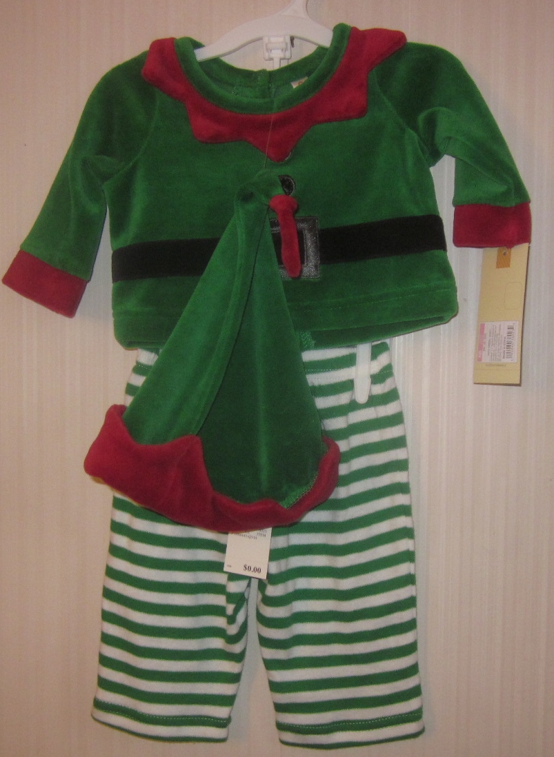 Newborn Boy Elf Outfit with Hat