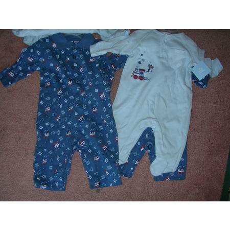 Boys 3-6 Months Layette Onepiece Long Sleeve Long Pants