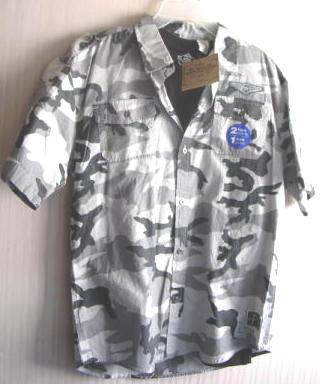 Boys Camouflage Shirt Button Down Route 66 Size 14 16