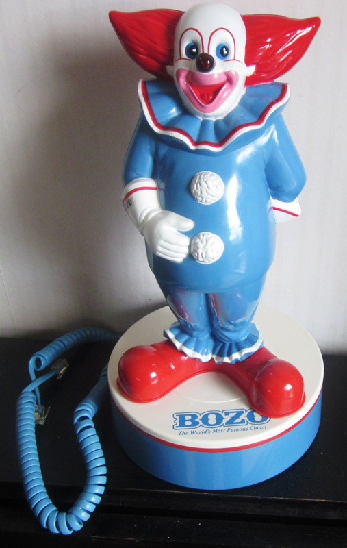 Bozo the Clown Novelty Phone Telephone