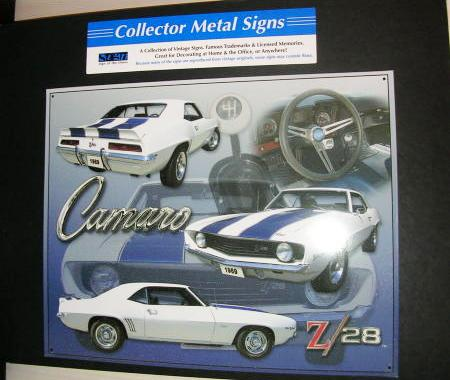 Tin Sign Metal Sign Camaro 1969