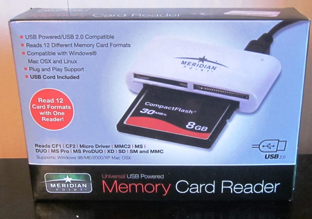Meridian USB Memory Card Reader 12 Different Formats