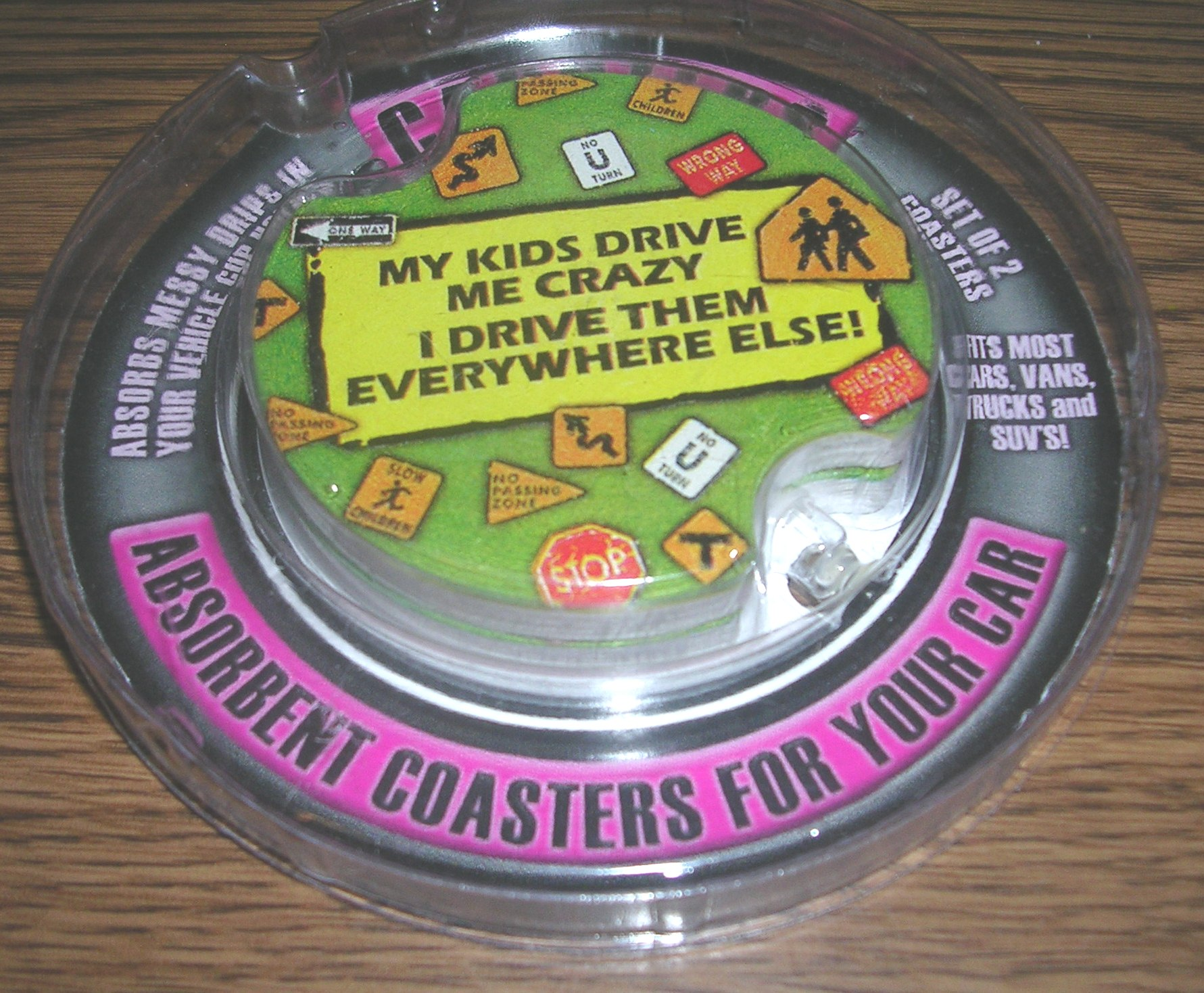 Carsters Car Coasters My Kids Drive Me Crazy New