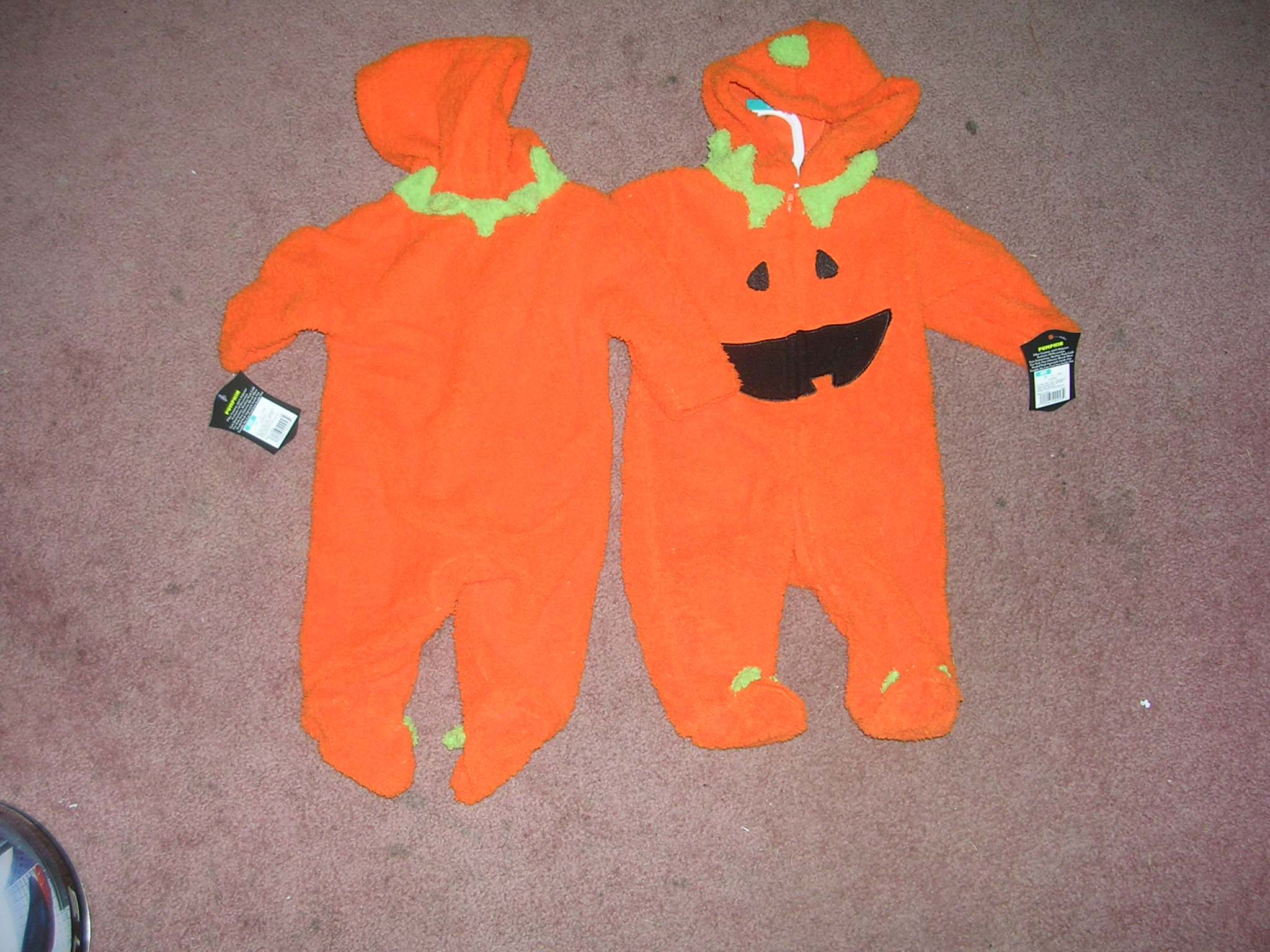 Pumpkin Costume 3 Months One Piece
