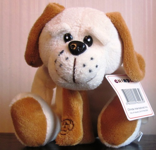 Chinda Plush Stuffed Dog wearing Scarf