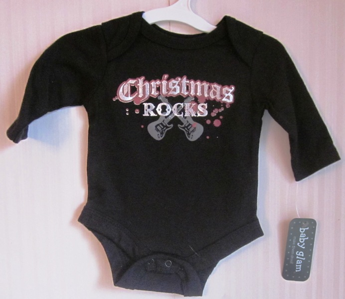 Christmas Rocks Creeper Long Sleeve Onepiece Newborn
