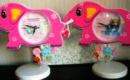 Baby Nursery Elephant Shaped Clock Barbie