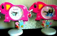 Baby Nursery Elephant Shaped Clock Hello Kitty