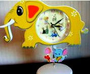 Baby Nursery Elephant Shaped Clock Precious Moments