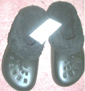 Womens Fleece Lined Black Clogs Small 5/6