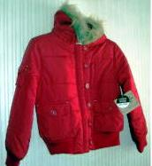 Girls Red Coat Water Resistant Route 66 Size 7/8
