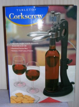 Tabletop Corkscrew Black Adjustable Height