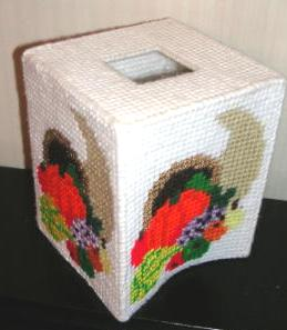 Thanksgiving Cornucopia Tissue Kleenex Box Cover Handmade