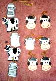 Wood Wooden Cow Wall Hanging and Knob Hangers Handmade