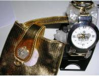 Womens Watch Crown Cuff Watch with Case