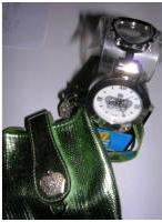 Womens Watch Crown Cuff Watch with Case Silver
