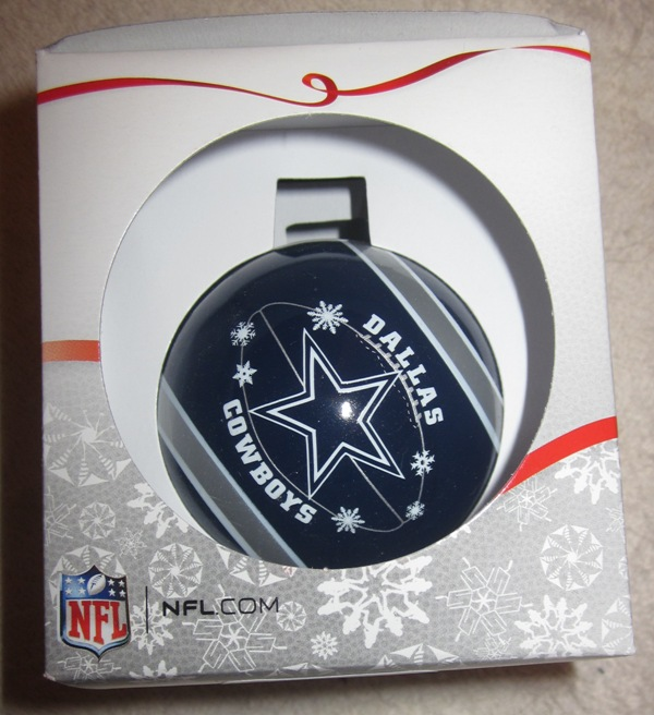 Dallas Cowboys Glass Ball Ornament Forever Collectibles
