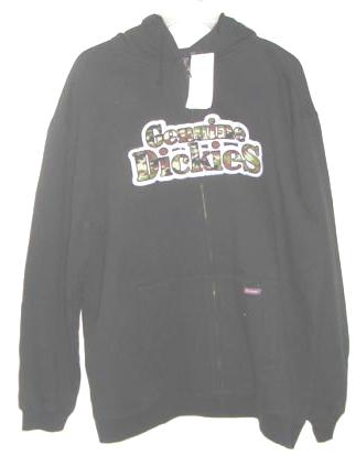 Mens Genuine Dickies Hood Zipper Sweatshirt Medium