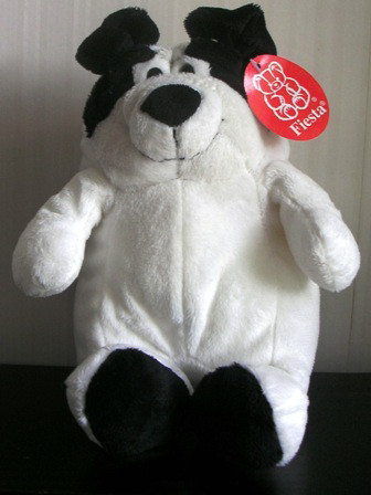 "Fiesta Plush Stuffed 8"" Chubby Dog White A18356"