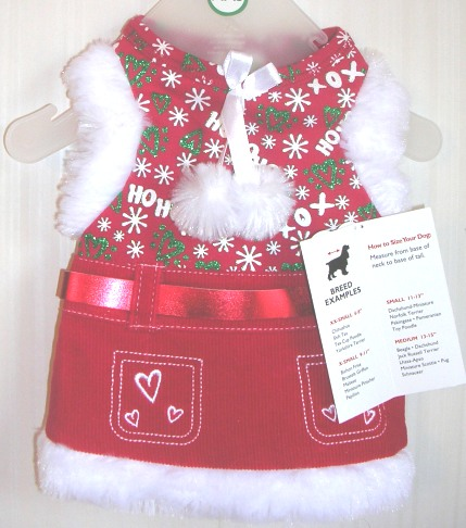 Dog Christmas Holiday Dress XXSmall