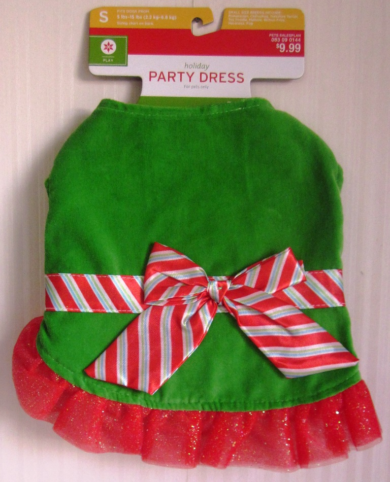 Christmas Holiday Party Dress for Dogs Small