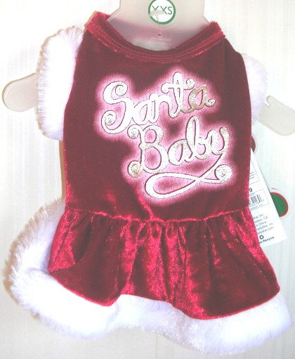 Dog Christmas Holiday Santa Dress XXSmall